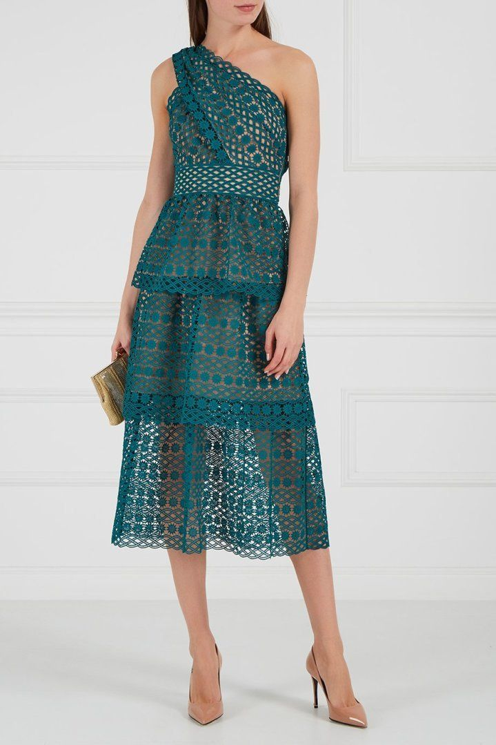 Платье Кружевное Зеленое Купить