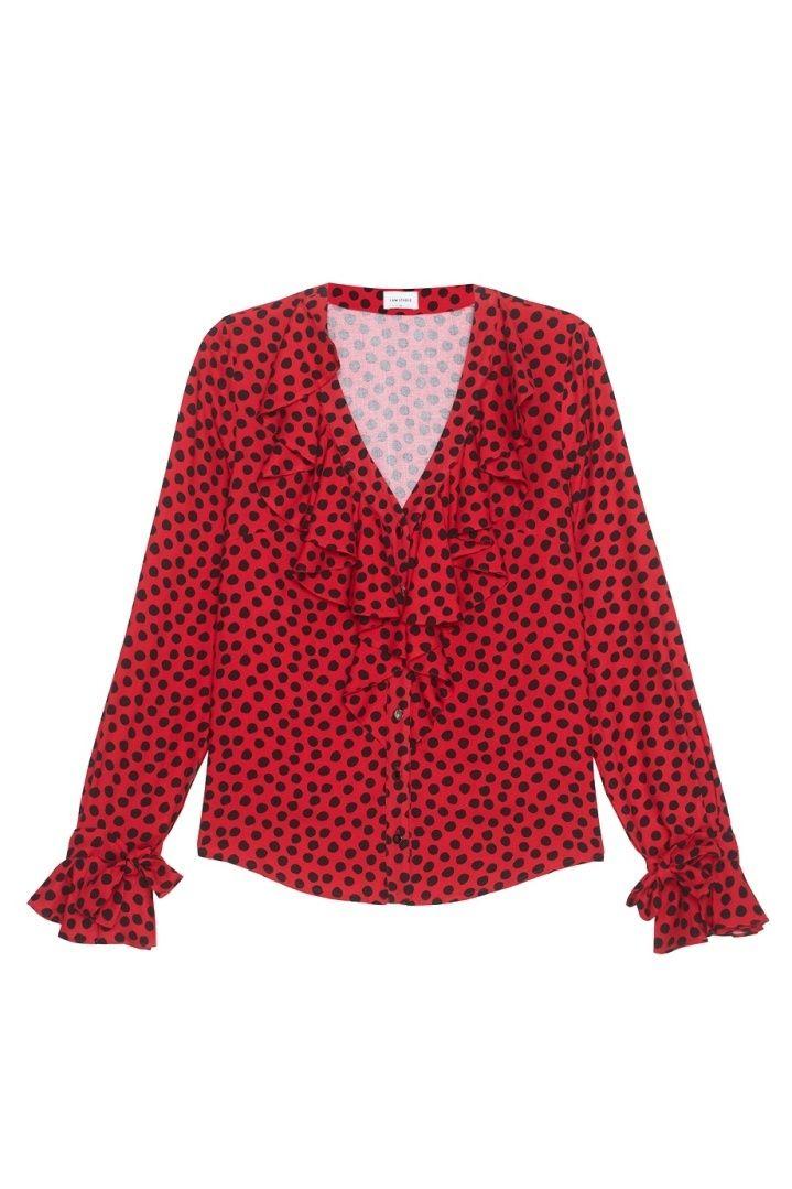 Красная Блузка В Горошек В Уфе