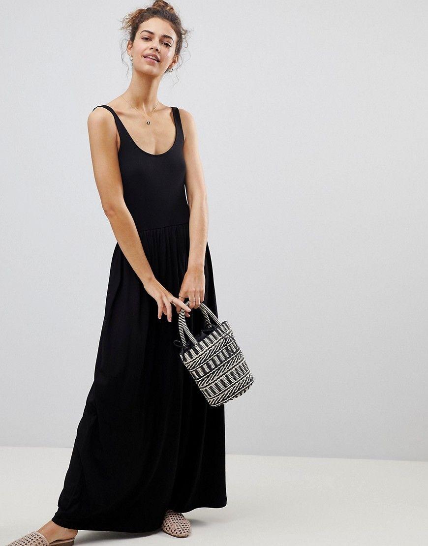 Купить Черное Макси Платье