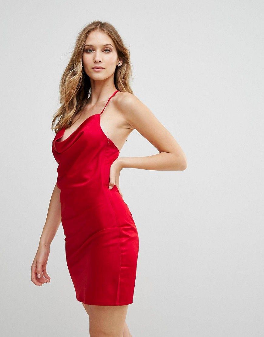 Купить Красное Атласное Платье