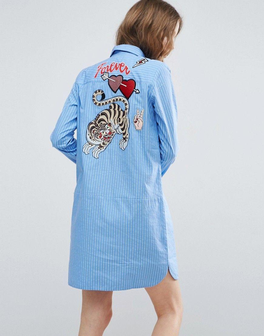 Asos рубашка с вышивкой 24