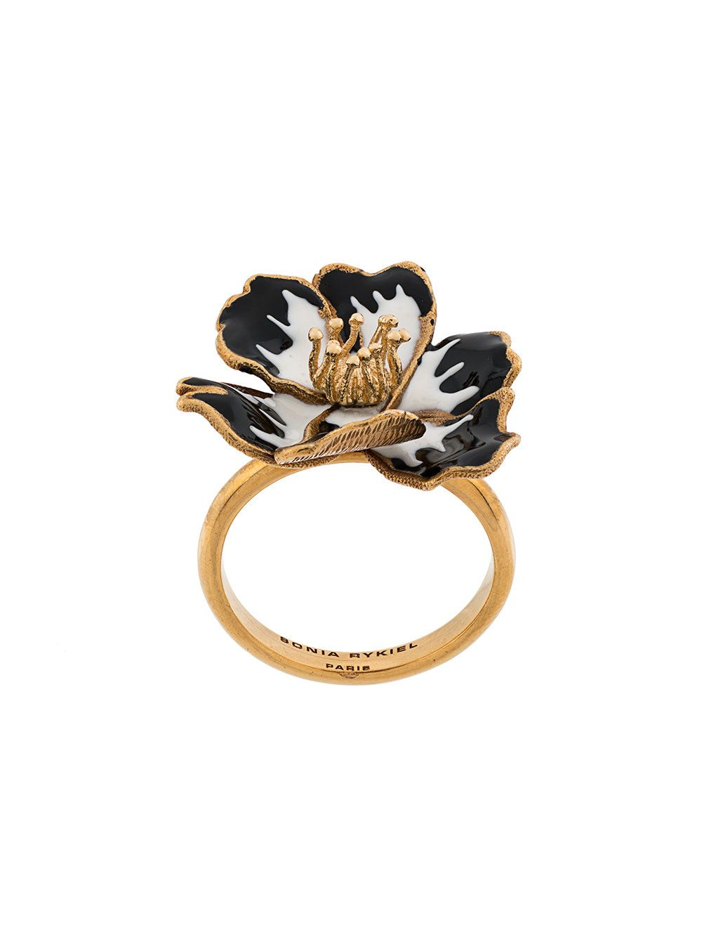 Кольцо в форме цветка фото