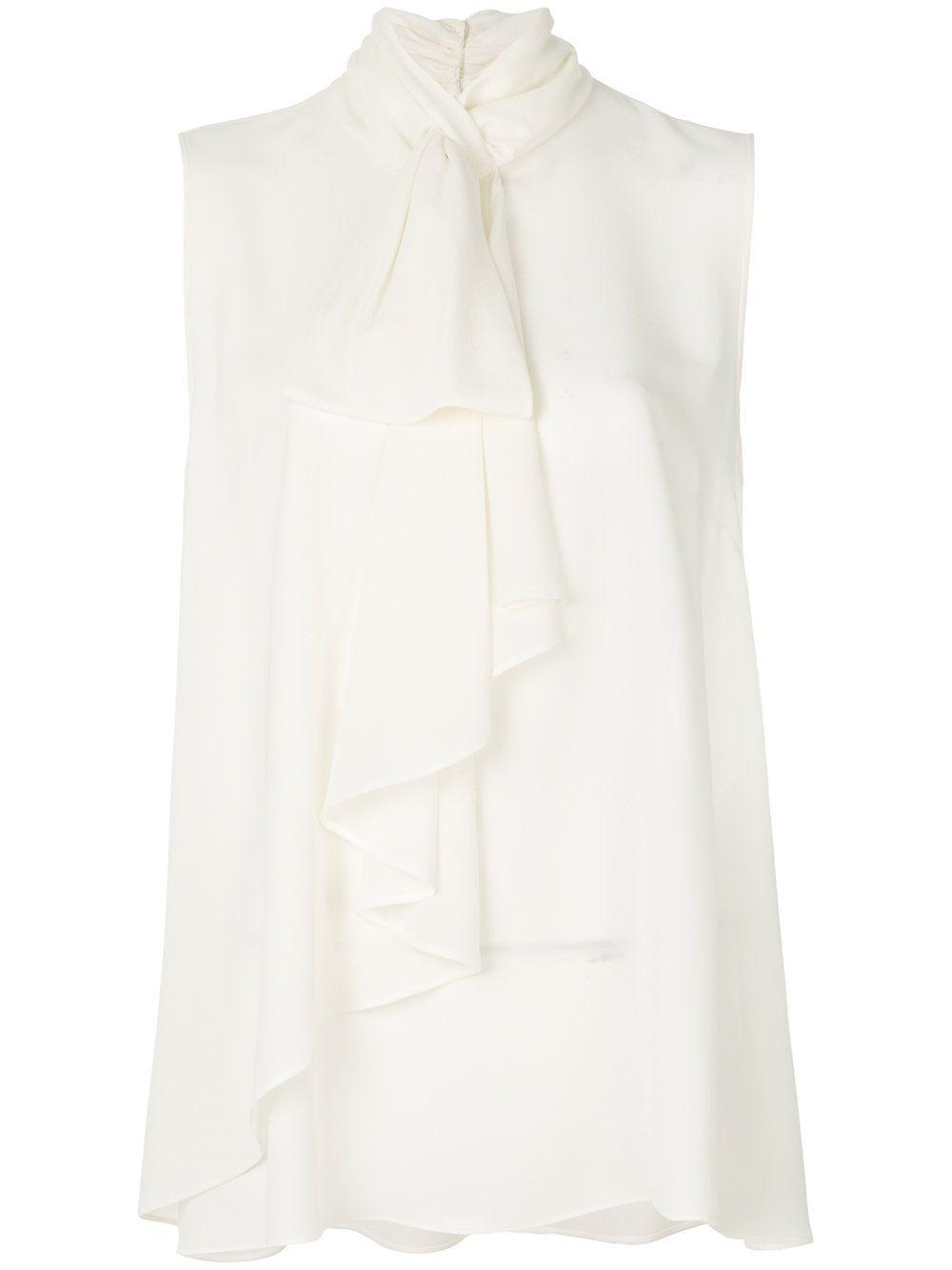 Блузки С Жабо Белые Купить