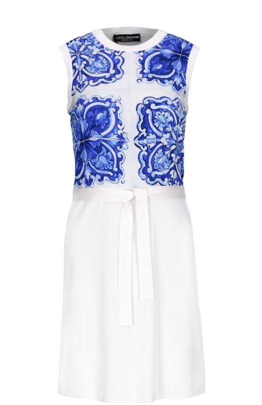 Синее платье дольче габбана
