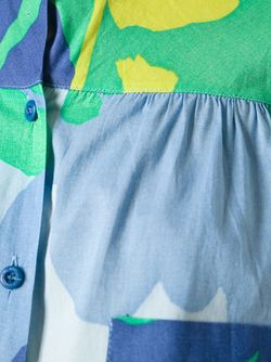 Свободная Рубашка В Принт Christian Dior Vintage                                                                                                              синий цвет