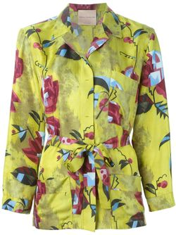 Рубашка С Цветочным Принтом Erika Cavallini                                                                                                              зелёный цвет