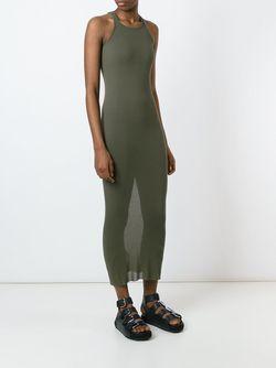 Ribbed Tank Dress Rick Owens                                                                                                              зелёный цвет