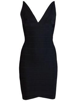 Lauren Dress Hervé Léger                                                                                                              черный цвет