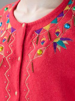 Кардиган С Вышивкой KANSAI YAMAMOTO VINTAGE                                                                                                              красный цвет