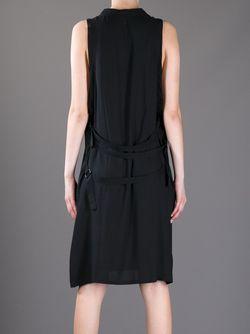 Платье С Ремешками Сзади Ann Demeulemeester                                                                                                              черный цвет