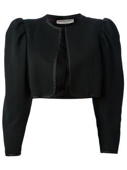 Укороченный Пиджак-Болеро Saint Laurent                                                                                                              черный цвет