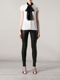 Skinny Leather Trouser Alice + Olivia                                                                                                              чёрный цвет