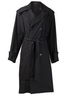 Двубортный Плащ Yohji Yamamoto                                                                                                              чёрный цвет