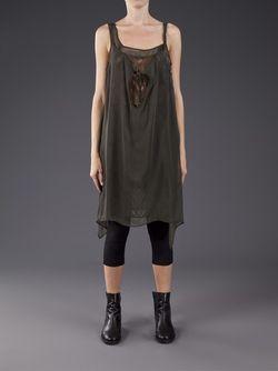 Tank Top Dress Yohji Yamamoto                                                                                                              зелёный цвет