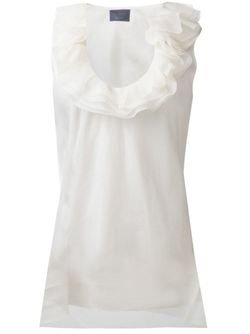 Ruffled Collar Top Lanvin                                                                                                              белый цвет