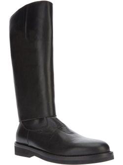 Массивные Высокие Ботинки Ann Demeulemeester                                                                                                              чёрный цвет