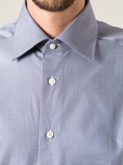 Fine Check Shirt Ermenegildo Zegna                                                                                                              синий цвет