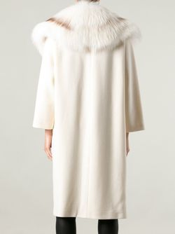 Fur Collar Coat Fausto Puglisi                                                                                                              белый цвет