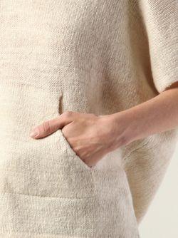 Свитер С Короткими Рукавами И Капюшоном The Elder Statesman                                                                                                              Nude & Neutrals цвет