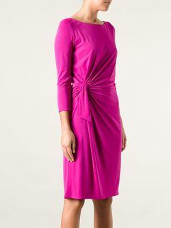 Twisted Jersey Dress ISSA                                                                                                              розовый цвет
