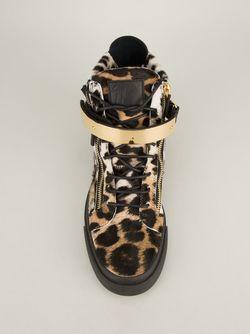 Кроссовки-Хайтопы Giuseppe Zanotti Design                                                                                                              чёрный цвет