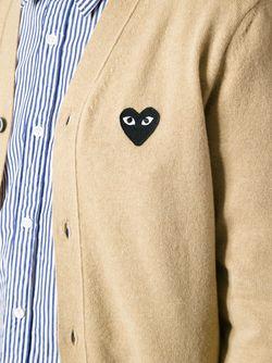 Кардиган С Логотипом Comme Des Garcons                                                                                                              коричневый цвет