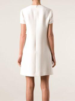 Платье С Накладными Карманами Valentino                                                                                                              белый цвет