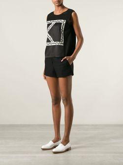 Блузка С Аппликацией Логотипа Kenzo                                                                                                              чёрный цвет