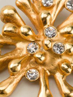 Брошка С Инкрустацией Кристаллами CHRISTIAN LACROIX VINTAGE                                                                                                              серебристый цвет