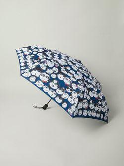 Зонт С Иллюстрированным Принтом Lanvin                                                                                                              синий цвет