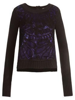 Crochet Sweater MARTHA MEDEIROS                                                                                                              чёрный цвет