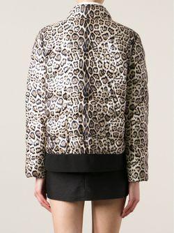 Стёганая Куртка С Леопардовым Рисунком Moncler Gamme Rouge                                                                                                              Nude & Neutrals цвет
