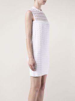 Хлопковое Платье Прямого Кроя PIECE D ANARCHIVE                                                                                                              белый цвет