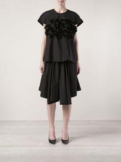 Юбка Из Поплина Co                                                                                                              черный цвет