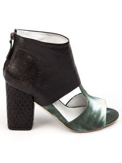 Ботинки С Вырезами И Контрастной Отделкой Marsell                                                                                                              чёрный цвет