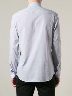 Рубашка С Белым Узором Z Zegna                                                                                                              синий цвет