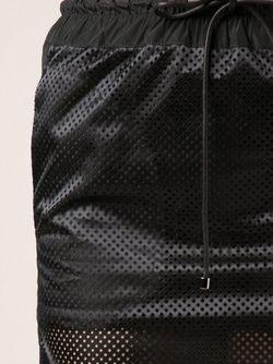 Полупрозрачная Юбка Sacai                                                                                                              черный цвет