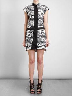 Платье С Волнистым Принтом Kenzo                                                                                                              чёрный цвет