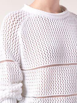 Короткий Свитер Maison Rabih Kayrouz                                                                                                              белый цвет