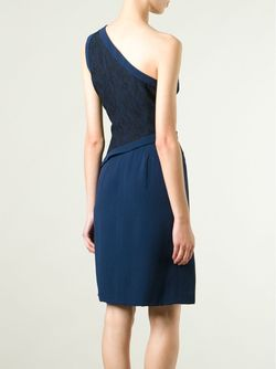 Contrast One-Shoulder Dress Azzaro                                                                                                              синий цвет