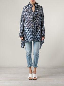 Блузка-Накидка С Принтом YVONNE S                                                                                                              синий цвет