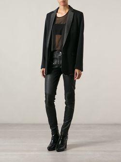 Пиджак С Контрастными Лацканами Diesel                                                                                                              черный цвет