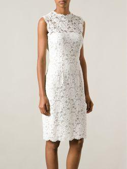 Кружевное Платье Valentino                                                                                                              белый цвет