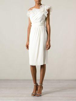 Платье На Одно Плечо Giambattista Valli                                                                                                              белый цвет