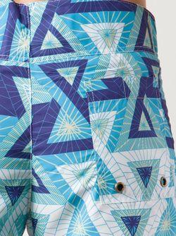 Шорты Для Плавания В Принт BANTU                                                                                                              синий цвет