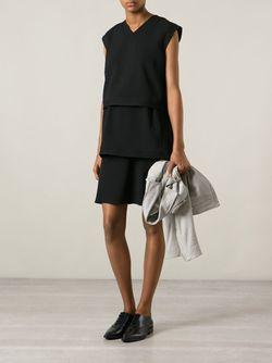 Ярусное Платье Helmut Lang                                                                                                              черный цвет