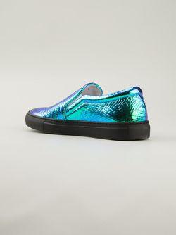 Vipera Hologram Slip On Sneakers Joshua Sanders                                                                                                              зелёный цвет