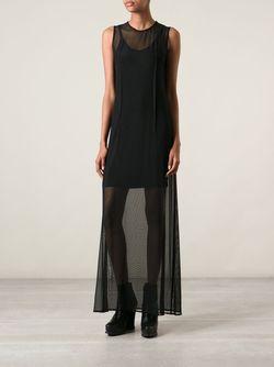 Полупрозрачное Платье Ann Demeulemeester                                                                                                              черный цвет