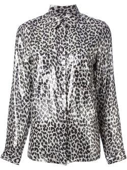 Блузка В Леопардовый Принт Diesel                                                                                                              серебристый цвет