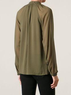 Полупрозрачная Блузка Diesel Black Gold                                                                                                              зелёный цвет